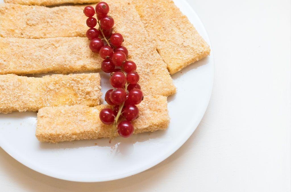 Gebakken kaasplakken, heerlijk bij een rauwe andijviestamppot