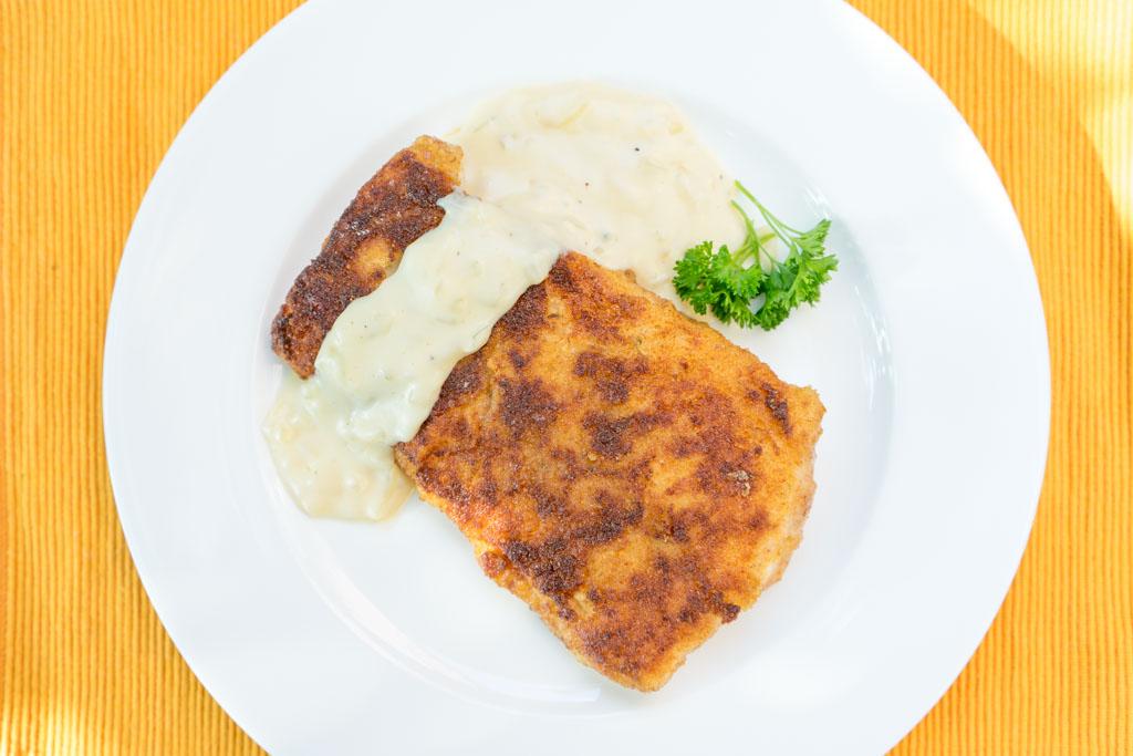 recept gebakken vis met uiensaus
