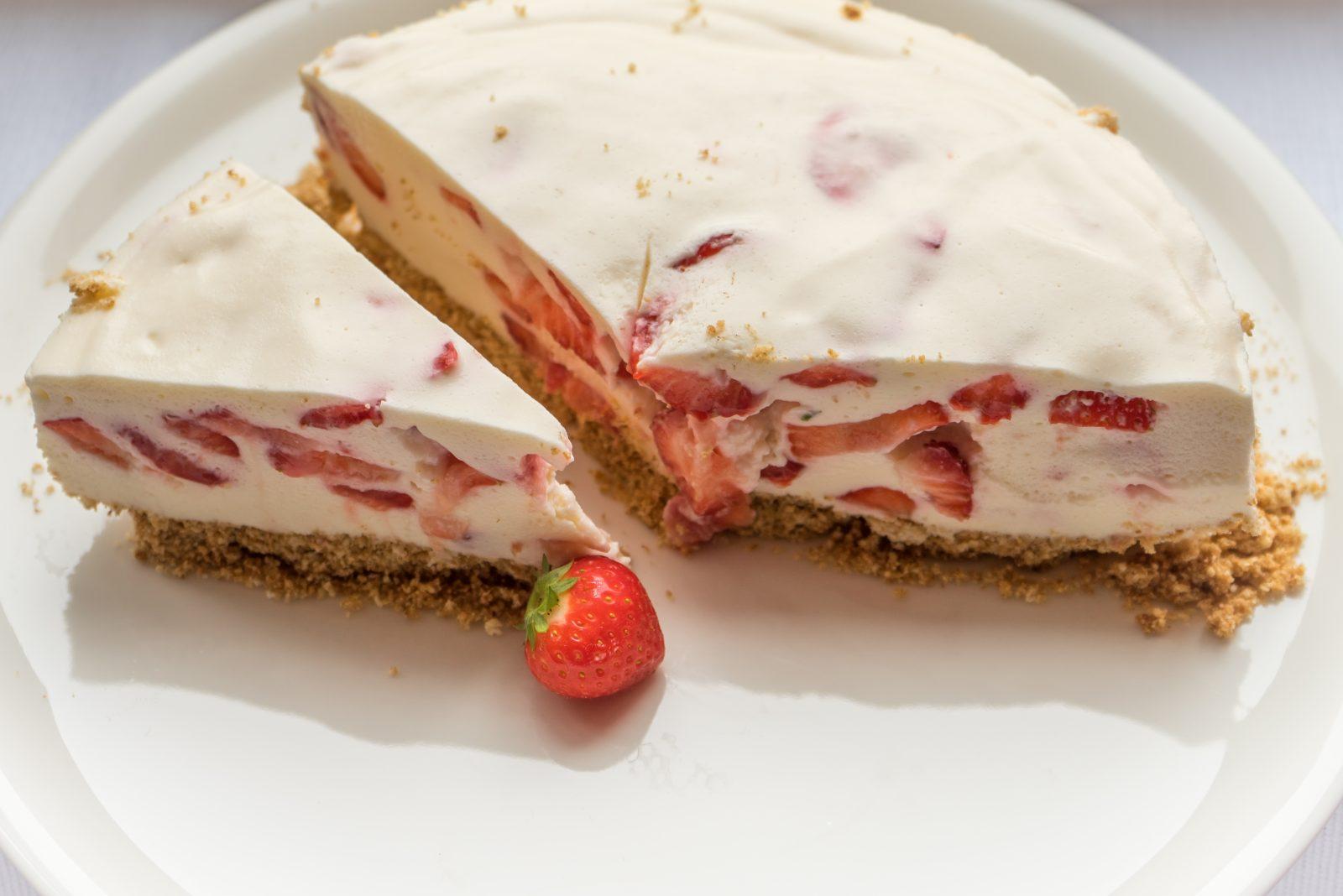 recept aardbeienkwarktaart
