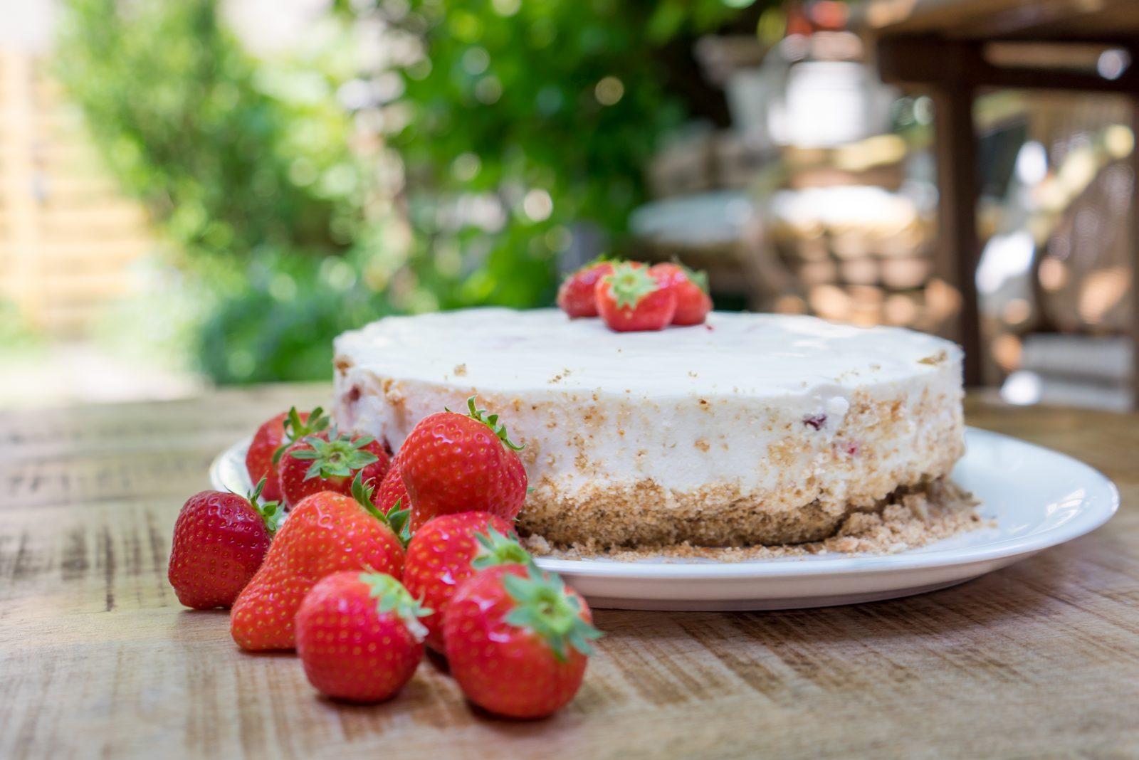 aardbeienkwarktaart recept