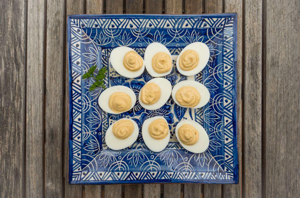 Gevulde eieren als borrelhapje