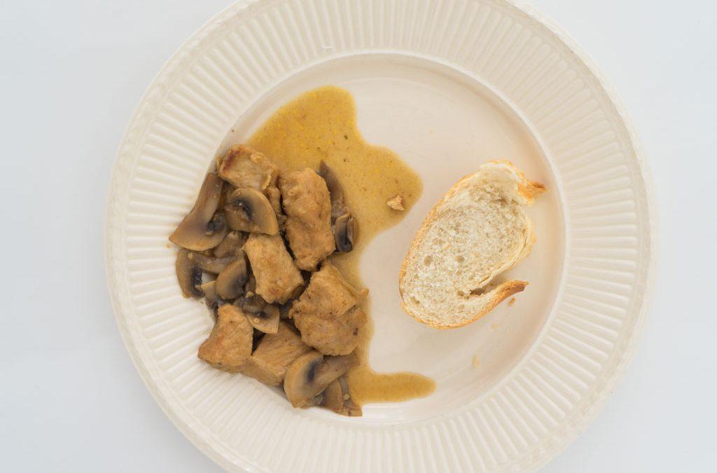 Varkenspoulet met champignons